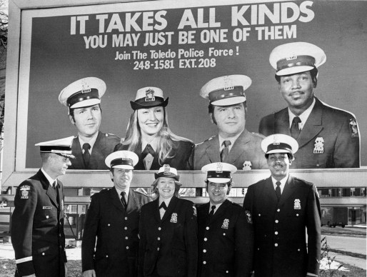 "The campaign ""It Takes All Kinds"" was designed to encourage men and women from 21 to 31 years old with a high school diploma or equivalent to apply to take an upcoming civil service examination for patrol positions in 1975. Blade file photo"