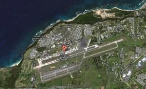Aerial shot of the Rafael Hernández Airport in Aguadilla. (Credit: Google Maps)