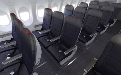 Main Cabin Seating For The A312 A319 And B737 Aircraft Courtesy American Airlines