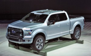 "In Detroit, Ford unveiled its ""Atlas Concept,"" the next generation of the F-150 trucks that will be available in 2014."