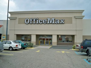 OfficeMax will offer its new bundles and services at its 13 local stores.