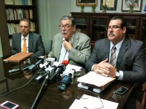 From left: Attorneys Harold Vicente, José Andréu-García and José Andréu-Fuentes