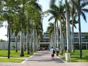 Walkway leading to the Otto G. Richter Library on the campus of the University of Miami. (Credit: Wikipedia)