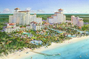 Baha Mar will include four new hotels — a Mondrian, a Rosewood, a Grand Hyatt and a casino hotel — as well as a convention center and Jack Nicklaus golf course. (Credit: www.bahamar.com)