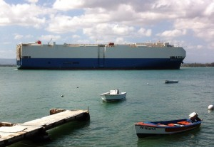 During the first seven months of Fiscal 2013, 6.5 million short tons of cargo arrived to the three main docks at the Port of San Juan, namely Puerto Nuevo, Puerta de Tierra and Isla Grande. (Credit: © Mauricio Pascual)