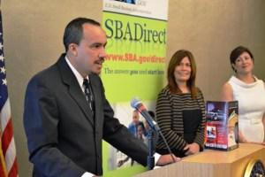 José A. Irizarry, president of Centro Gomas del Oeste accepts his SBA award.