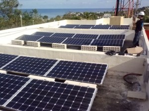 RES Solar is installing equipment to harness the sun's power to run Claro's cell site in Vieques. (www.renewablesolutions.com)