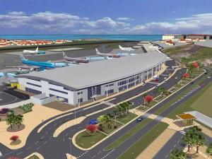 A rendering of the Princess Juliana International Airport. (Credit: st-maarten-martin.blogspot.com)