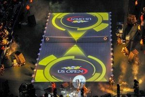 Lenny Kravitz performs during the Opening Night ceremonies of the 2013 U.S. Open.
