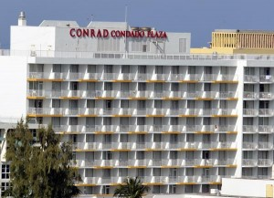 In 2008, the property was revamped and redesigned by noted designer Leo Daly, and in 2009, branded as part of Hilton Worldwide's Conrad Hotels & Resorts portfolio. (Credit: © Mauricio Pascual)