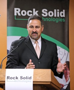 Angel Pérez, vice president of Rock Solid Technologies.