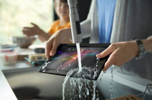 The Sony Xperia Tablet Z is waterproof.