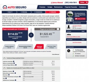 Through popular.com/autoseguro, customers can quote and buy auto insurance in about 10 minutes in an easy, fast and cost-effective way — from the comfort of their home or office.