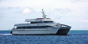 """The """"Big Cat Express"""" ferry transports passengers from Fajardo to Culebra in 45 minutes."""