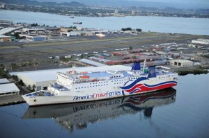 The Caribbean Fantasy ferry.