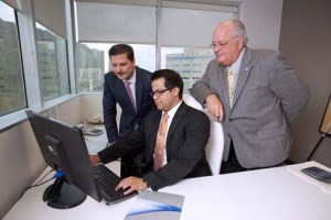From left (standing): Felix Lugo and Ernesto Vázquez-Barquet. Sitting, Johnny Mejías.
