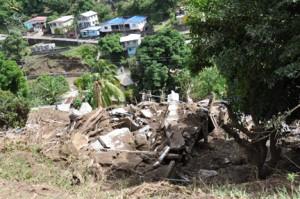 Mudslide devastates a village in St. Vincent following Dec. 24 torrential rains. (Credit: Larry Luxner)
