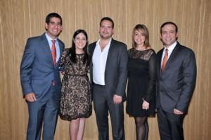 Award recipients Gabriel de Cárdenas, Natalia Castiel, Rafael Torres, Viviana Rosaly and Rafael González.