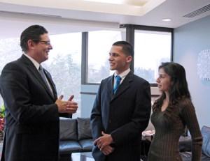 From left: Antonio Medina, Emmanuelle Vargas, and Cristina Santana.