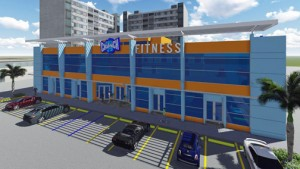 The three-story Crunch Fitness facility will feature 100 parking spaces for members and staff.