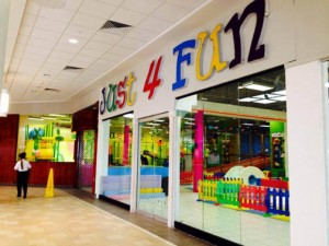 The Just 4 Fun children's entertainment area will open on the second level to offer a big play and activities area for little ones and their families, mall officials said.