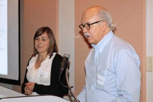 Prof. Ramón Daubon along with one of the students participating in the collaborative course.