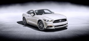 2015 Ford Mustang 50 Year Limited Edition in Wimbledon White.
