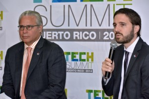 From left: Economic Development and Commerce Secretary Alberto Bacó and Giancarlo González, Puerto Rico's CIO discuss the upcoming event.