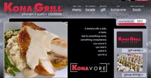 Kona Grill originated in Arizona and currently has 24 locations nationwide.