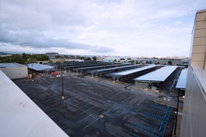 The project entailed installing 17,764 panels over the parking spaces available at either side of the Convention Center.