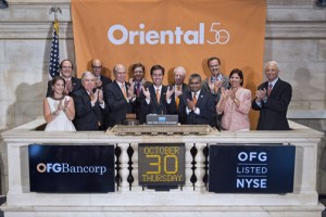 A delegation of Oriental employees and clients, to ring the closing Bell of the New York Stock Exchange Thursday.