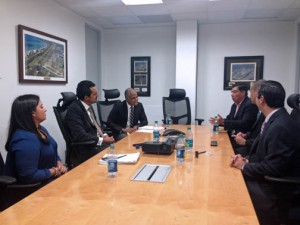 Aerostar Holdings and Puma executives discuss the newly signed contract for a new aircraft fuel facility.