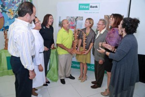 Representatives from the nonprofits honored by FirstBank gather to mark the occasion.