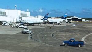 jetBlue, Puerto Rico's dominant air carrier, cancelled six incoming and four outbound flights Monday afternoon.
