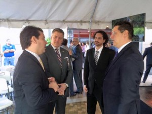 From left: Christian González, CEO and co-founder of Wovenware; Jaime Yordán, business development director in the area of telecom and information technology for PRIDCO; Carlos Meléndez, COO and co-founder of Wovenware; and Antonio Medina, executive director of PRIDCO.