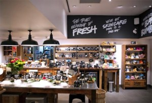 Lush offers an interactive experience to its clientele, which gravitate toward the retailer's organic fruit and vegetable-based product lines.