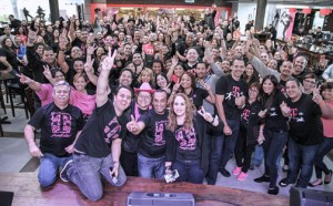 During the past 12 months, T-Mobile's local employee base increased by 20 percent to 1,100 full-time jobs.