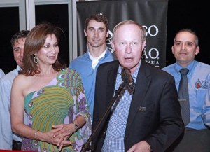 Puerto Rico Tourism Company Executive Director Ingrid Rivera-Rocafort takes part in this weekend's inauguration led by Fogo de Chão CEO Larry Johnson.