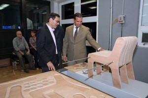 Interamerican University Rector Juan F. Martinez and EDB President Joey Cancel-Planas participate in the A.SPACE Labs opening.