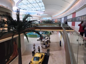 The Mall of San Juan features 65-foot glass ceilings, tropical decor and contemporary designs.