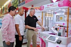 From left: José Vega, owner of Econo Cayey, Jerry Arias, director of Robofusion PR, and Allan Jones, CEO of Robofusion Inc.