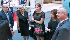 From left: Manuel Catedral, district general manager, MasterCard Puerto Rico; Susana Santiago, marketing director for Plaza Del Caribe; Lorraine Vissepó, communications director for Empresas Fonalledas, which owns the mall; Vivian Puig, president of the Chamber of Commerce of the South; and Edwin Tavárez, general manager of Plaza Del Caribe.