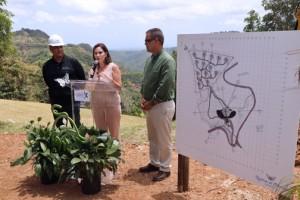 From left: Toro Verde CEO Jorge Jorge, Tourism Co. Executive Director Ingrid I. Rivera-Rocafort, and Orocovis Mayor Jesús E. Colón.