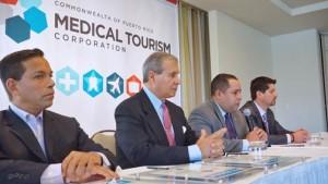 From left: Lemuel González, manager of the Condado Lagoon Villas, Raúl Bustamente, general manager of the Condado Plaza Hilton, Francisco Bonet, executive director of the Medical Tourism Corp., and Jonathan Edelhe, CEO of the MTA.