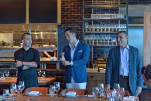 From left: Chef Marc Forgione, LDV Hospitality President John Meadow, and Restaurateur Julio Canales.