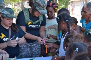 Enactus Puerto Rico members spearhead sustainable development projects in economically disadvantage communities in Puerto Rico and the Caribbean.