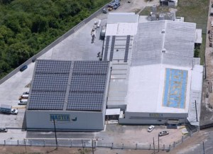 REAP funding recipient, Master, installed a rooftop solar panel system.