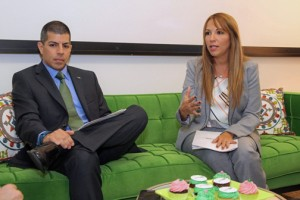 Jorge Rosario, marketing manager for FirstBank and Luzmarie Vélez, senior vice president and sales and production director at FirstMortgage.