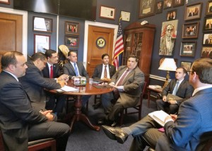 Puerto Rican lawmakers meet with their counterparts in Washington DC on Monday.