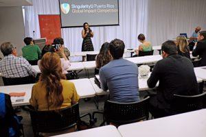 23 de mayo de 2016. San Juan Puerto Rico. Anuncio de la ganadora del premio Singularity University en la sede del Fideicomiso de Ciencias, Tecnología e Investigación . (En la foto) la ganadora fue Simara Laboy López . (photo by: José R. Madera)